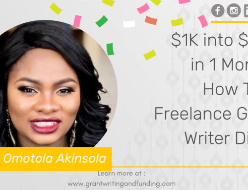 $1K into $15K in 1 Month: How This Freelance Grant Writer Did It