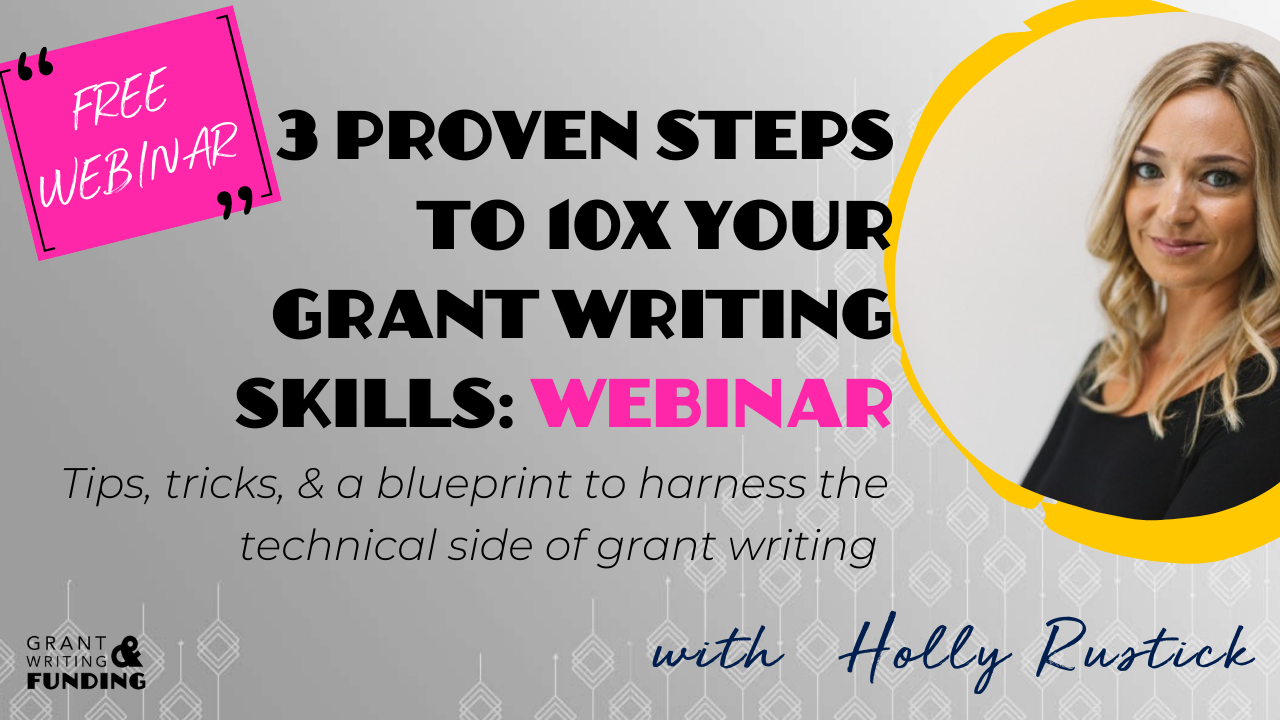 Free Live Grant Writing Training