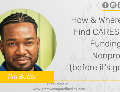#144: How & Where to Find CARES Act Funding for Nonprofits (before it's gone)