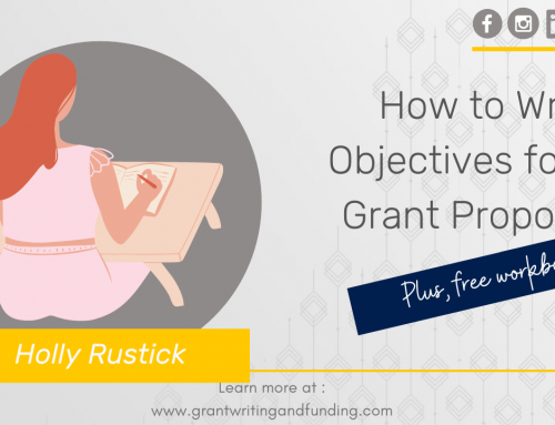 #167: How to Write Objectives for a Grant Proposal