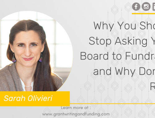 #180: Why You Should Stop Asking Your Board to Fundraise and Why Donors Rock